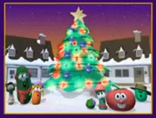 Annie Larry the Cucumber Laura Carrot Star Christmas Tree Led Light Percy Pea Junior Asparagus Bob the Tomato Tom Grape with Brown Hat