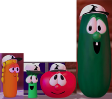 Laura Carrot As Delivery Girl Junior Asparagus As Shack Bob the Tomato As Rack Larry the Cucumber As Benny VeggieTales