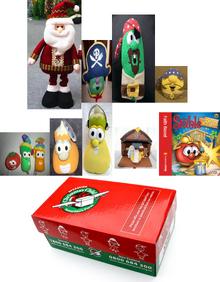 Christmas Moose Decorations Plush Santa Christmas Child Boxes