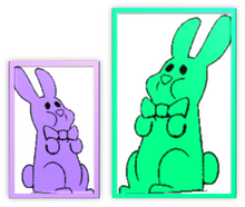 Lavender Bunnies Bow Metal Frame & Green Bunnies Bow Metal Frame
