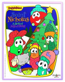 VeggieTales Saint Nicholas A Story of Joyful Giving Metal Frame