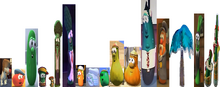 Eighteen VeggieTales Dave and the Mr. Nezzer Palmy the Tree