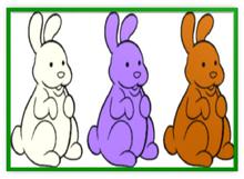 Chocolate Bunnies Colorful Three Metal Frame