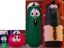Junior Asparagus As Shack Bob the Tomato As Rack Larry the Cucumber As Benny Mr. Nezzer As Himself Model
