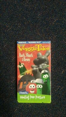 VeggieTales Rack, Shack & Benny 2000 Word Entertainment VHS Green Tape