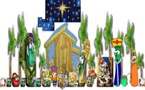 VeggieTales The Stable that Bob Built Nativity Scene Christmas