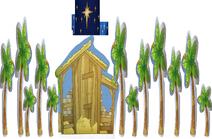 Five Palm Tree Sixteen Star Wall Hay Nativity Seven Palm Tree
