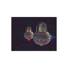Jimmy and Jerry in the space pods