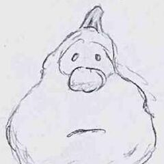 The original sketch for Jimmy that was drawn by Phil Vischer.