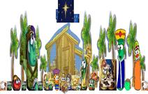 VeggieTales The Stable that Bob Built Nativity Scene Christmas Pageant Morn Savior Born Manger