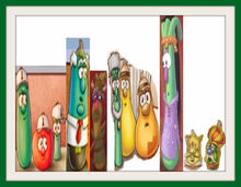 VeggieTales Lord of the Beans Museum Matte Frames