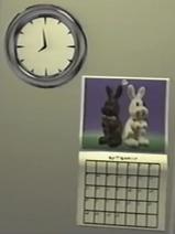Clock And Bunny Calendar