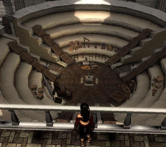 Amphitheater von oben