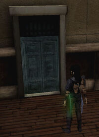 Castello blaue Tür