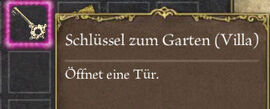 Castello Gartenschlüssel