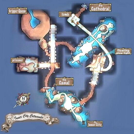 Map of Inner City Catacombs