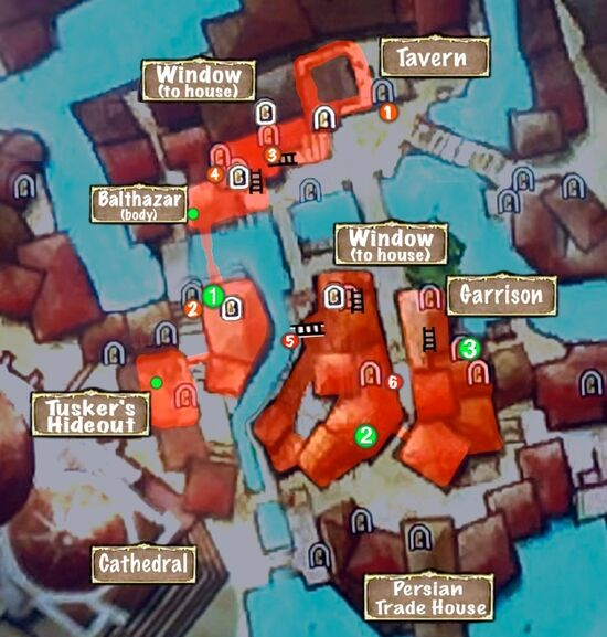Map of Inner City Rooftops