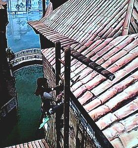Scarlett on Ladder Inner City