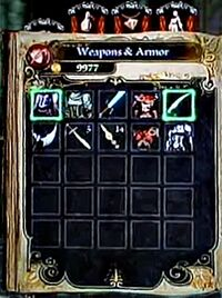 Weapons Armor Inventory