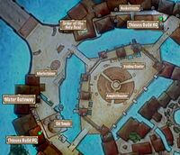 Quest Map Chasing Bandits in the Outer City