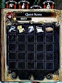 Quest Item Inventory