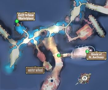 Quest Map Saint Anthony Shield catacombs