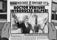 Doctor Venture introduces H.E.L.P.eR. in 1962