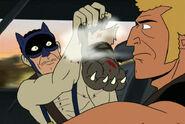 Venturestein-in-Bat-mask-with-dog-foot