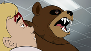 Scare Bear eyes Hank