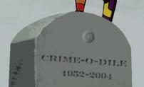 Crime-O-Dile tombstone