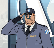 Hatred security guard