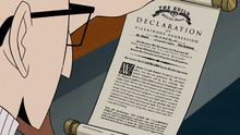 Dr. Venture reads the Declaration of Villainous Aggression