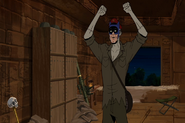 Venturestein shouts Batman