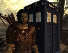 Vahl with the tardis by starbolt101-d764cwl