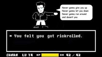 Rickrovania - Megalovania Never Gonna Give You Up