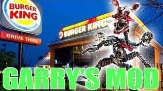 MANGLE VISITS BURGER KING!! - Gmod NIGHTMARE MANGLE Mod (Garry's Mod)
