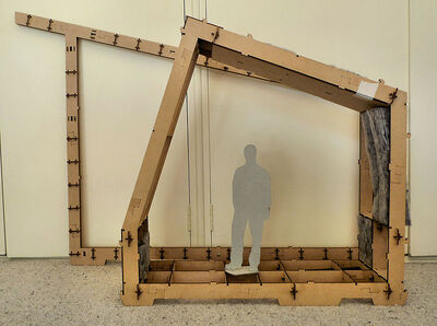 Scale model of WikiHouse system 1.0 and 2.0