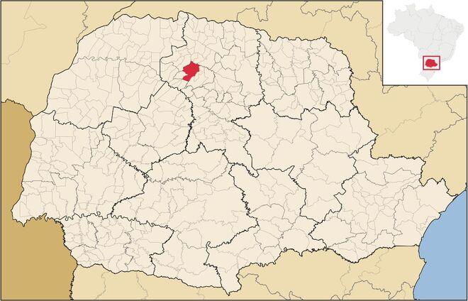Maringa no mapa
