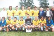 Mannschaft des TSV Westheim während der Bezirksliga 1989