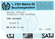 Eintrittskarte mainz-leipzig