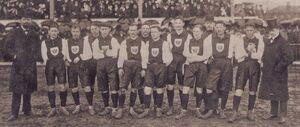 Deutsche Fussball-Nationalmannschaft erstes Laenderspiel 1908