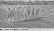 Kurz vor dem Start der Leichtathletik