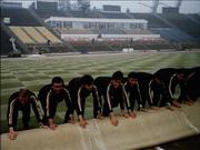 Ehrentribüne Zentralstadion Leipzig 1977