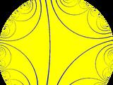 Imaginary-order triangular tiling