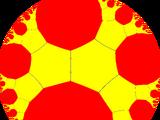 Truncated imaginary-order triangular tiling