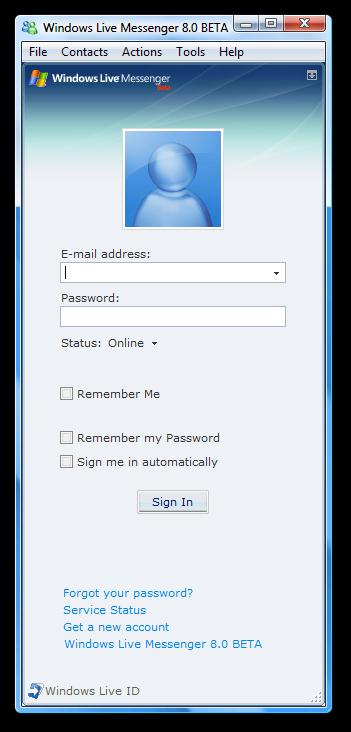 messenger 8.0 beta