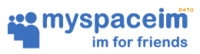 MySpaceIM First Beta Logo