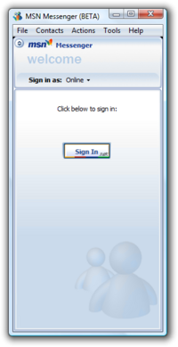 MSN Messenger 7.0.0205 Beta