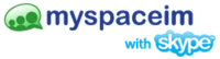 MySpaceIM with Skype Logo
