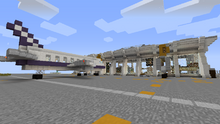The airport and a plane
